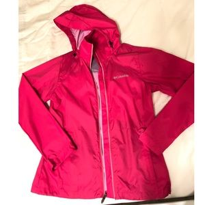 Women's Pink Columbia Rain Jacket